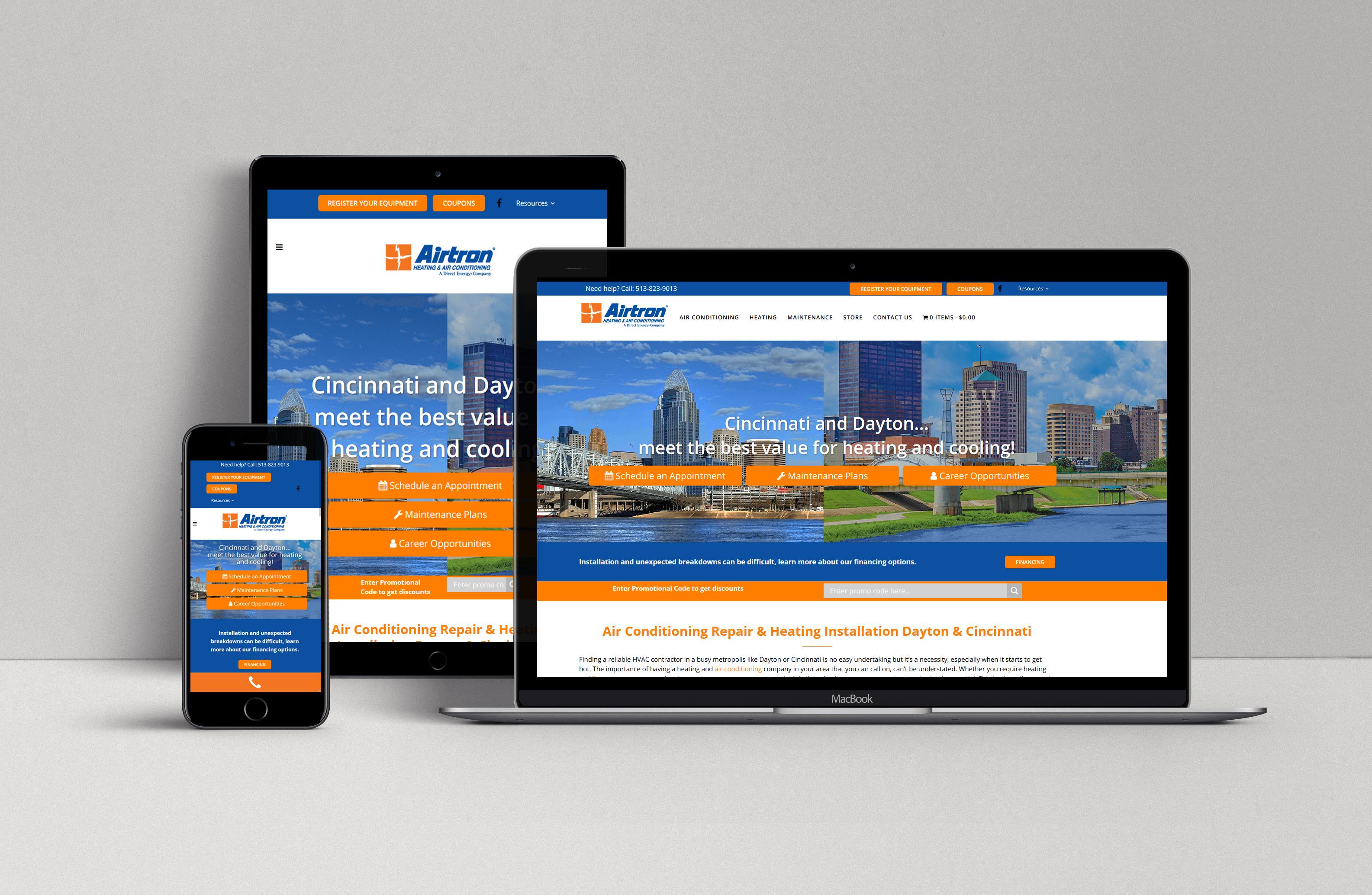 Airtron Cincinnati and Dayton Website