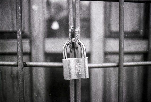 locked secure gate