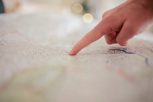 Navigating via a map
