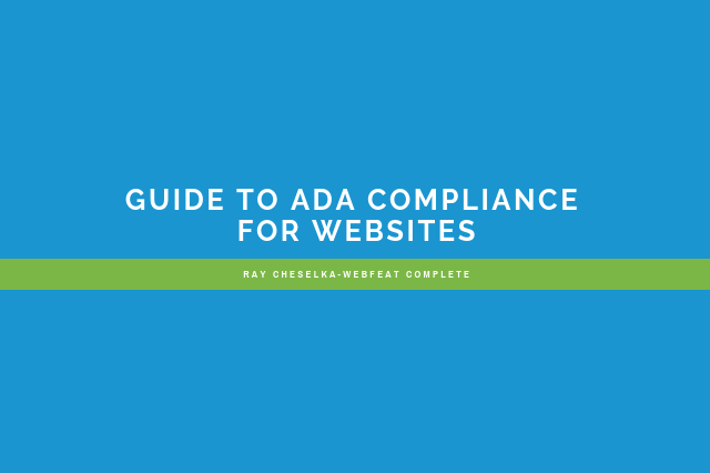 Guide to ADA Compliance for Websites