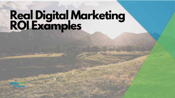 Real Digital Marketing ROI Examples