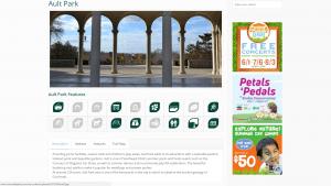 Screenshot of CP's individual park page