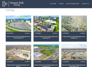 screenshot of Dumes Falk's listings page
