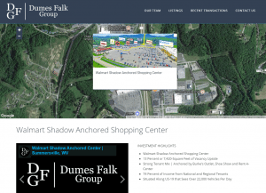 screenshot of Dumes Falk's specific listing page
