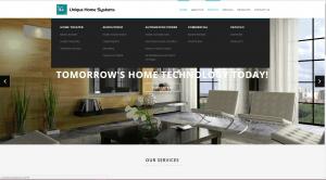 Unique Home Systems Services Dropdown