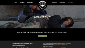 Warrior Homesteads' donation page