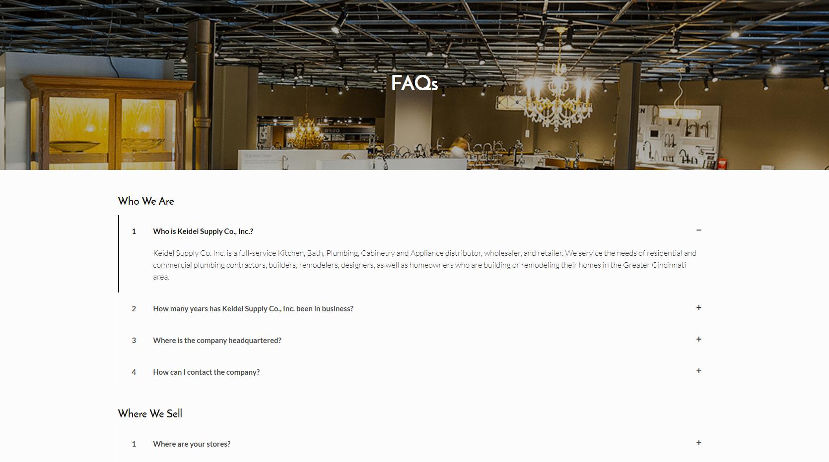 Keidel FAQ page