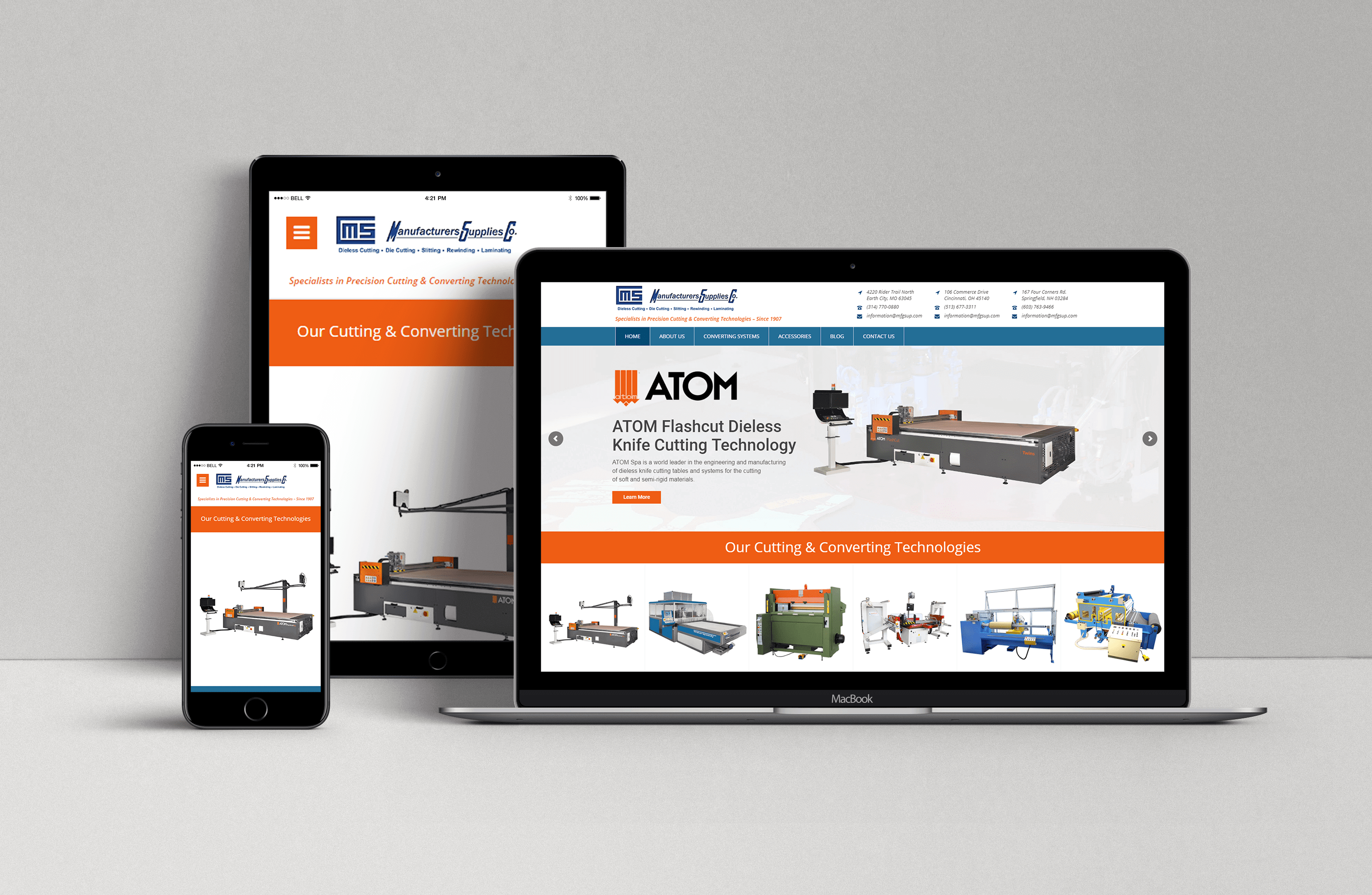 MFGSUP Mobile and Responsive Website Design