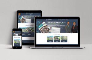 dumesfalk.com screenshots displayed on a Mac, iPhone, and iPad