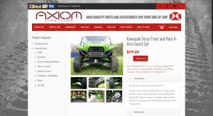 Axiom Side by Side product page