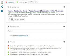 Yoast Post Box WordPress