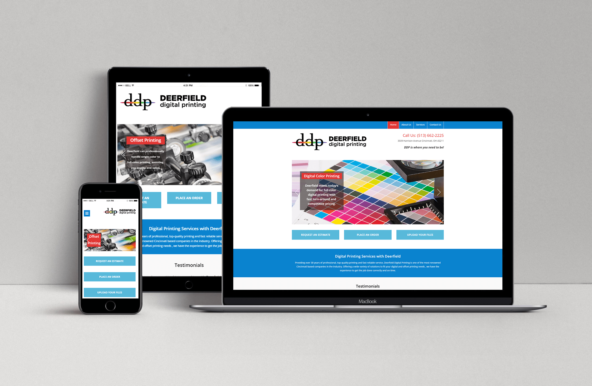 New Custom WordPress Website-Deerfield Digital