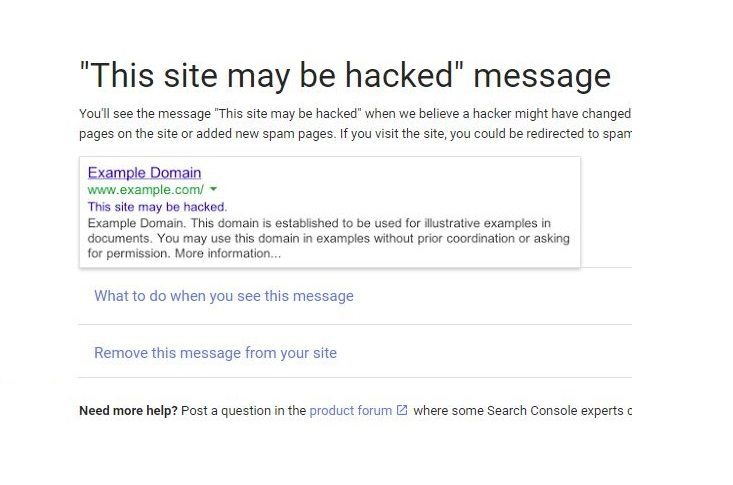 Site May Be Hacked-Google Answer