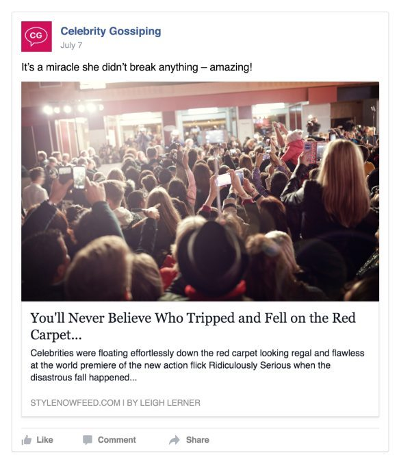 Clickbait headline