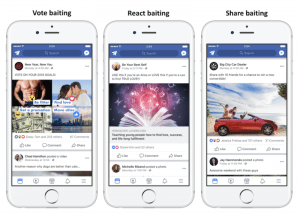 Examples of Facebook engagement bait