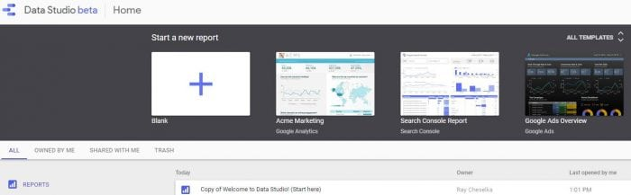 Data Studio Dashboard