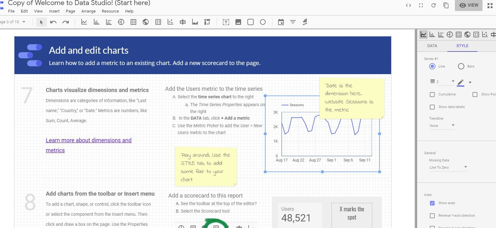 Exploring Google's Data Studio
