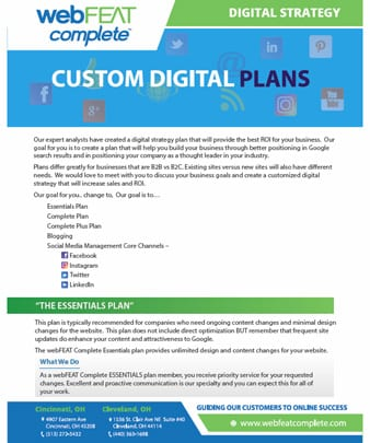 Digital Strategy Sales Sheet