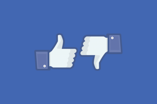 Facebook Like and Dislike Thumbs