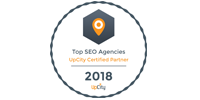 Top SEO Agency-UpCity Certified Partner 2018