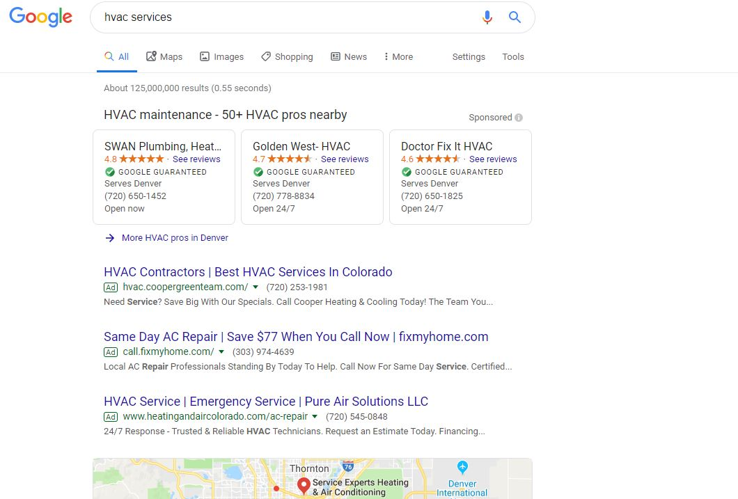 HVAC Search Google Guarantee