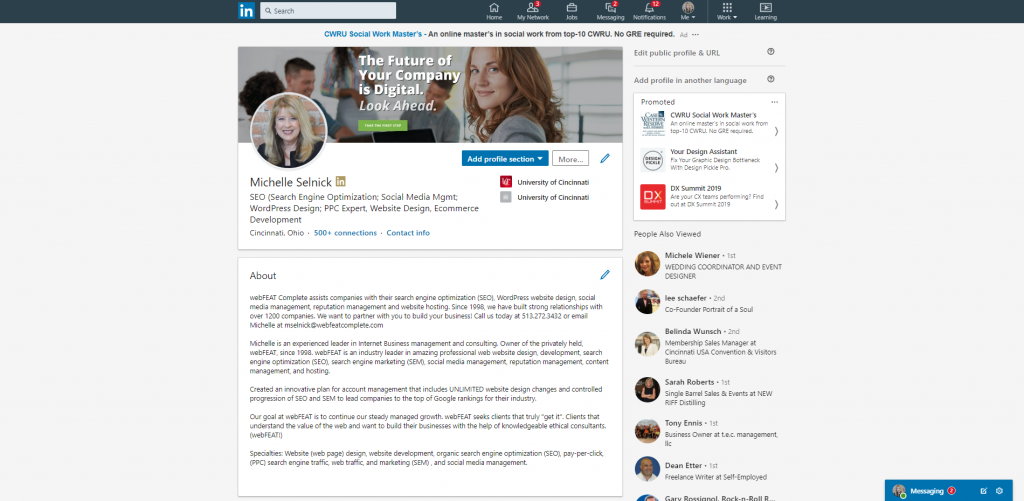 social selling linkedin profile