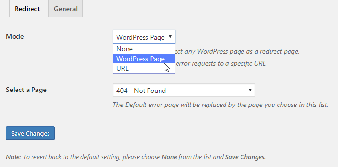 custom 404 pro redirect