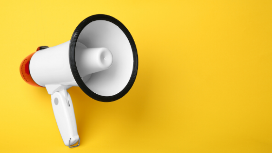 Megaphone yellow digital ads