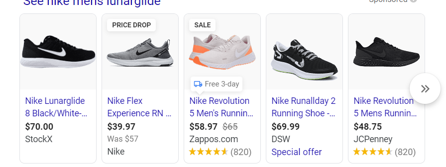 Google Shopping Ads Carousel