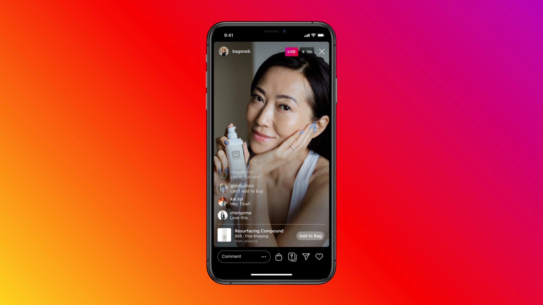 Facebook Shops Live Instagram Video