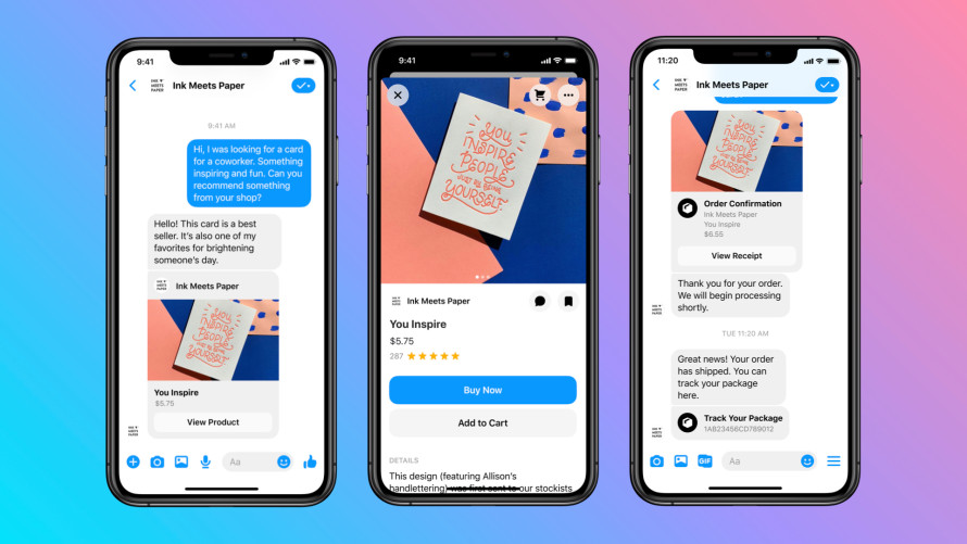 Facebook Shops Messenger Preview