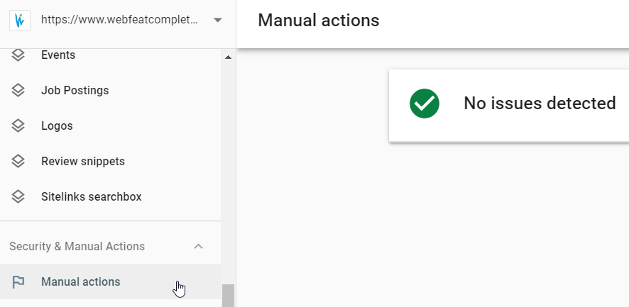 Manual Actions in Search Console