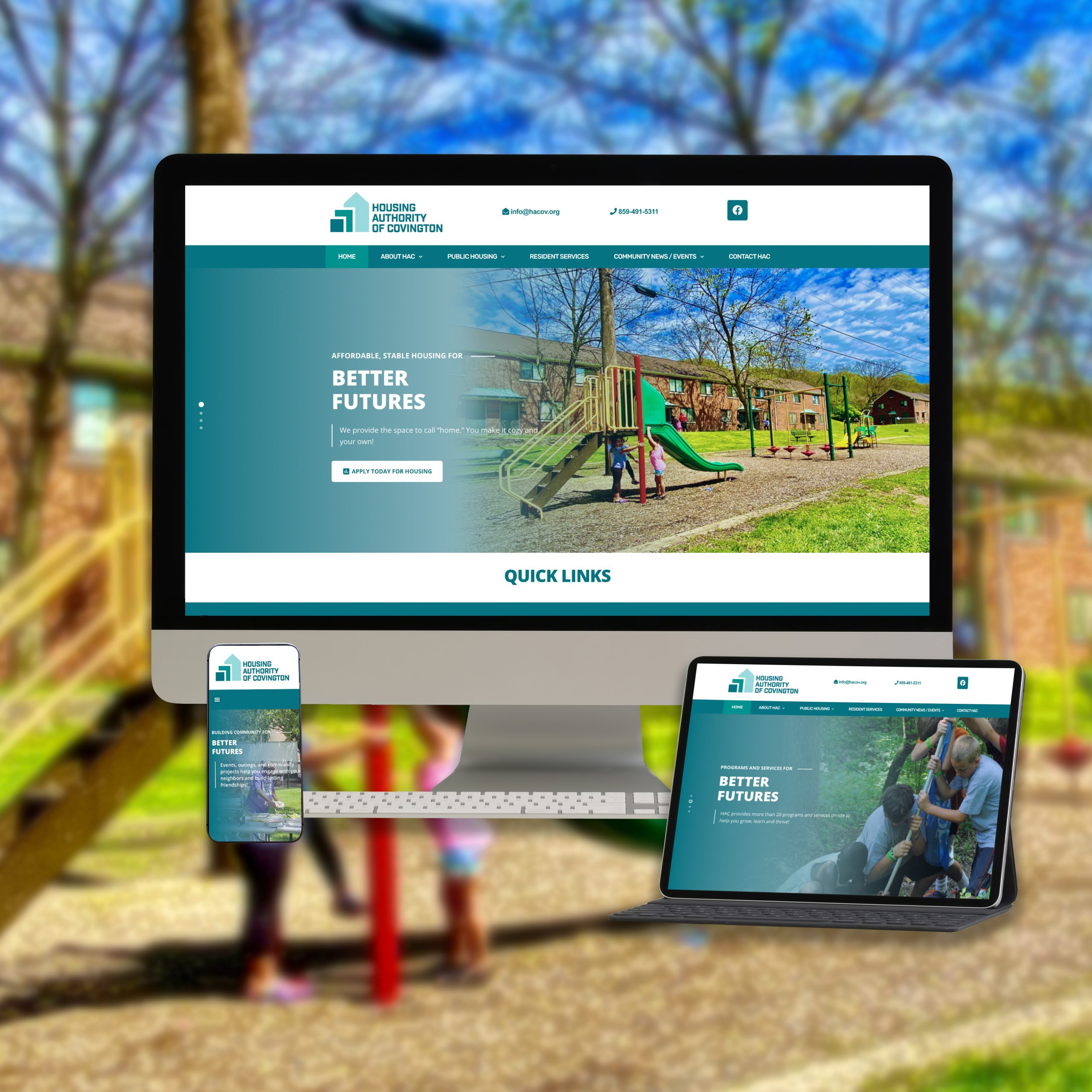 Covington Housing Authority Website Portfolio