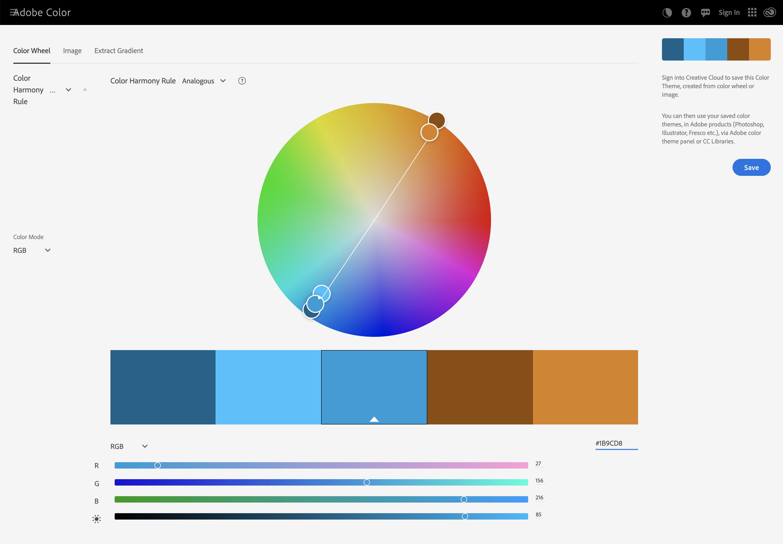 Adobe color pallete generator