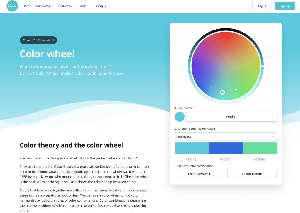 Canva color wheel color generator