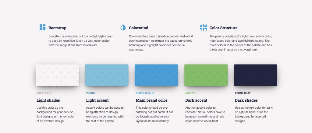 Color mind website color palette generator