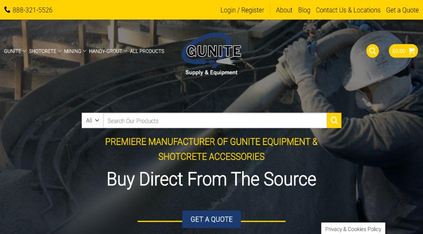 Gunite supply after