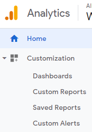 Google Analytics Customization Drop-down