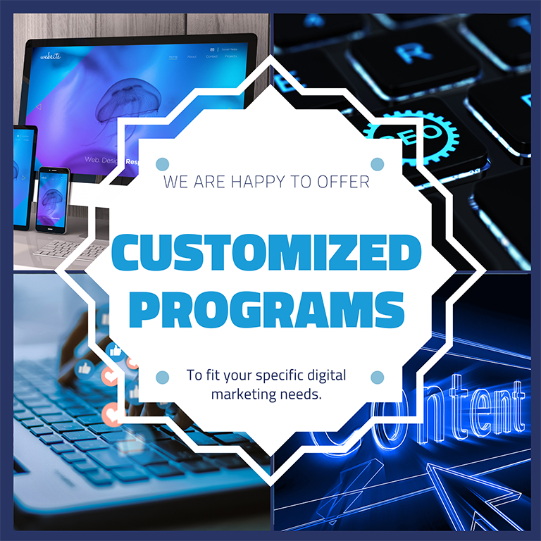 Customized digital marketing programs