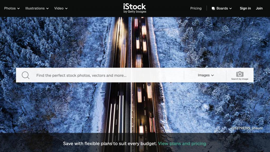 iStock.com Homepage - Stock Image Website