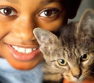 Boy with Kitten