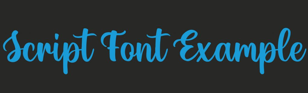 Chunky Script Design Trend Font Example
