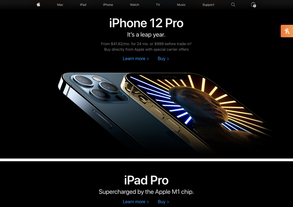 Dark Mode Website Design Trend Example
