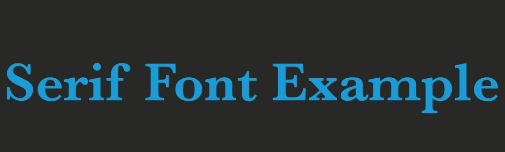 Serif Font Design Trends Example