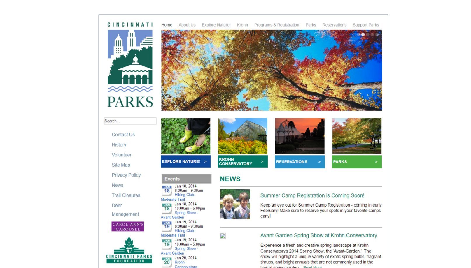 cincinnati parks before