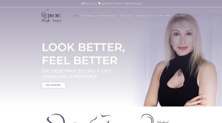 Rejuvene website after