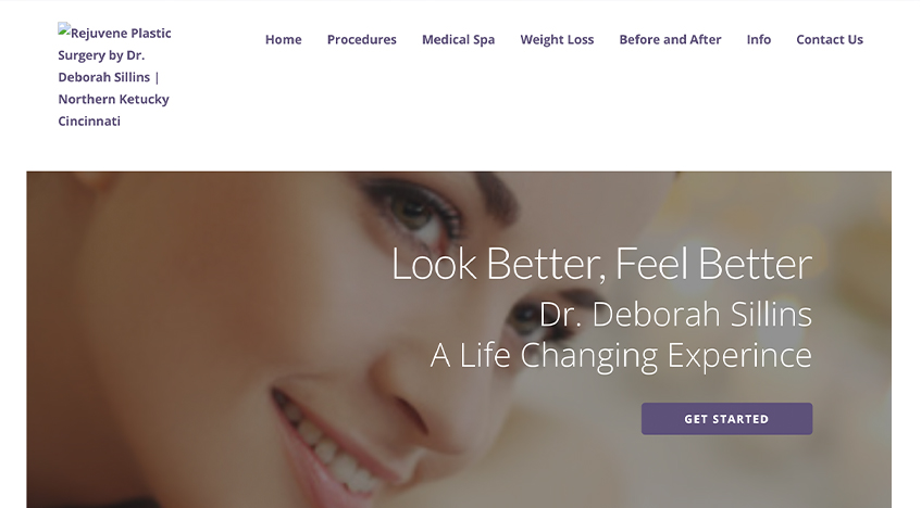 Rejuvene website before